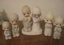 Precious Moments Wedding party figurines Lot of 5 bride groom best man