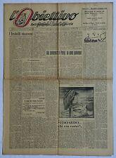 L'OBIETTIVO POLITICO GIORNALE SETTIMANALE ANNO I N 1 PRIMO NUMERO 1946
