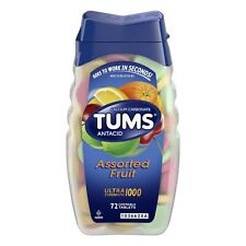 New Tums Ultra Strength Assorted Fruit Antacid Chewable Tablets 72 Ct. Exp 7/25