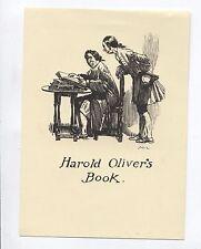 Ex Libris by Norman Lindsay for Oliver  Stolen image