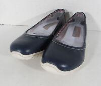 $70 Skechers Womens Posie Slip On Sneaker Shoes, Navy, US 7