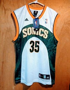 100% Authentic Kevin Durant Adidas Seattle Sonics Jersey Size Mens small