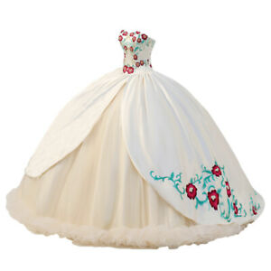 2021 New Sweetheart Embroidery Iovry Wedding Dresses Ball Gown Plus Size 2-22