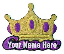 Crown Custom Iron-on Patch With Name Personalized