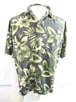 BILL BLASS  Hawaiian Aloha shirt M pit to pit 23.5  silk luau camp floral tiki
