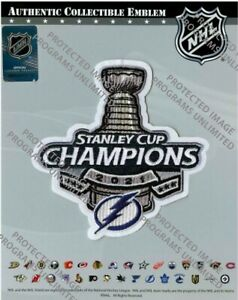 2021 STANLEY CUP FINAL CHAMPIONS PATCH TAMPA BAY LIGHTNING JERSEY STYLE NHL