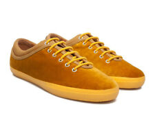 CAMPER Motel Velvet Lace up SNEAKERS Shoes 39 9 Mustard Yellow NEW