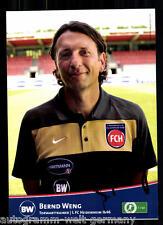 Bernd Weng 1.FC Heidenheim 2010-11 TOP AK +92620  + A 67335