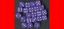6  12MM PURPLE w/WHITE D6 DICE CHX25807 WARHAMMER 40K