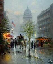 G Harvey 'Market Street Trolleys' Lmt Edition Canvas