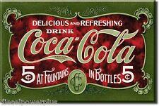Fridge Freezer Ice Tool Box Door on Lid Magnet Coca Cola Coke Soda mug sign gift