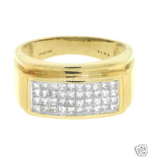 1.00ctw H-I Men's Princess Cut Diamond Ring in 14k Gold