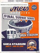 2008 NEW YORK METS NEW YORK YANKEES FINAL SUBWAY SERIES @ SHEA PROGRAM