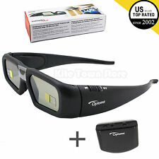 New Optoma Projector Rechargeable Active Shutter 3D Glasses ZF2300 W/ emitt