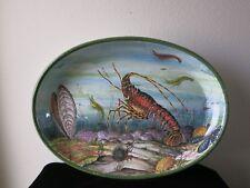 Vintage Large Hand Painted Valle Maria Teresa Lobster Platter Italy