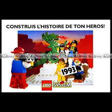 LEGO SYSTEM Moyne Age Ville Espace Pirates 1993 Dépliant Pub Publicité Ad #A1001