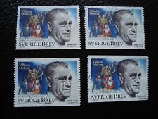 SUEDE - timbre yvert et tellier n° 2052 x4 obl (A29) stamp sweden (R)
