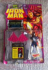 AMAZING SPIDER-MAN IRON MAN SPIDERWOMAN MINT IN PACKAGE MOC TOYBIZ 1994