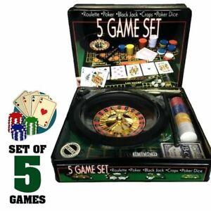 5 GAME SET - Casino Games [ Roulette/Poker/Black Jack/Craps/Poker Dice ]