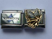 NOMINATION ITALIAN LINK + UNBRANDED BUTTERFLY MOOD CHARM CHANGES COLOUR A17