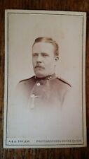 1870'S ANTIQUE CDV PHOTOGRAPH SOLDIER - A & G TAYLOR NEWCASTLE