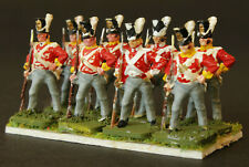 1/72 scale Painted  8 British Infantry Waterloo AIRFIX . Based.