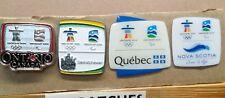 LOT OF 4 2010 VANCOUVER ONTARIO SASKATCHEWAN QUEBEC NOVA SCOTIA OLYMPIC PIN