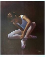 Rising Star - David Player - Ballet girl portrait - 64cms x 54cm, ballet poster
