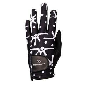 Women's Leather Golf Glove - Sunrise Spray Black Left, Right Hand & Pair
