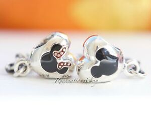 Authentic Disney Pandora Park Exclusive Mickey & Minnie Hearts Safety Chain New