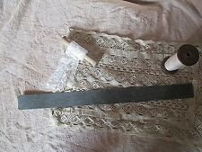 ancien outil à picots-matrice-patron-pour carton dentelle-dentelière-ruban-fil