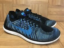 quality design 7bf6e d5ca0 RARE🔥 Nike Free 4.0 Flyknit Black Game Royal Turquoise Lagoon Sz 13  717075-004