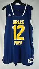ADIDAS Grace Prep BASKETBALL JERSEY large Navy Blue and Gold