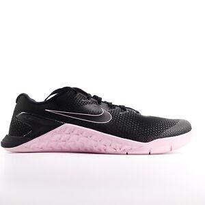 Nike Metcon 4 Black Black Pink Foam Training Shoes AH7453-011 Size 10.5