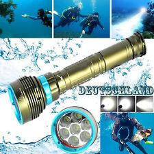 1X Unterwasser 200m 7x XM-L2 LED Scuba 20000LM Tauch-Taschenlampe 18650/26650 DE