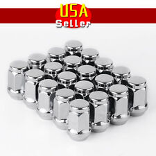 (20) Chrome Bulge Lug Nuts 12x1.5 M12x1.5 Cone Seat Closed End Fits Acura Honda