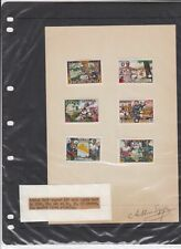 Rare Liberia Arthur Szyk Signed Stamps Page Ref 35927