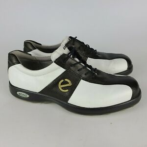 Ecco Women's Black & White Spikeless Golf Shoes Size 41 / 10