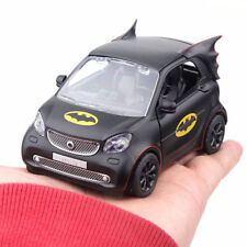 Batman Thema Smart Fortwo 1//28 Metall Die Cast Modellauto Spielzeug Pull Back