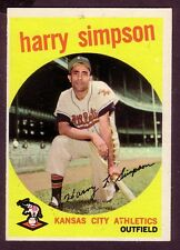 1959 TOPPS HARRY SIMPSON CARD NO:333 NEAR MINT CONDITION