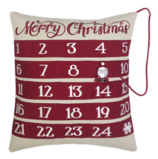 "Merry Christmas 18"" Advent Pillow NEW"
