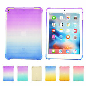 For Apple iPad Mini 5 4 3 2 1 Gradient Silicone Shockproof Soft TPU BACK Case