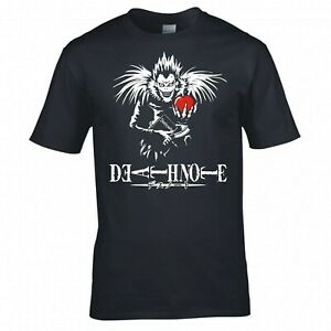 """INSPIRED BY DEATH NOTE """"RYUK HOLDING APPLE"""" ANIME T-SHIRT"""
