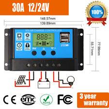 12V 24V 30A  Digital LCD Solar Regler USB Laderegler Controller Regulator 10+20A