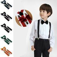 Kids Suspenders Bowtie Fashion Children Boys Braces Girls Adjustable Accessory