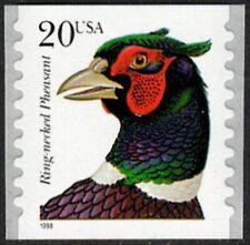 USA Sc. 3055 20c Pheasant 1998 MNH coil single