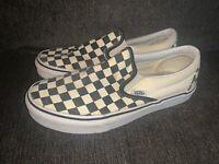 Vans Pro Slip On Men's 6/Womens 7.5 black and white checkered skate shoe