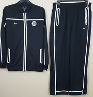 NIKE EYBL DRI-FIT BASKETBALL SUIT JACKET + PANTS BLACK WHITE RARE (SIZE XL LONG)