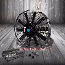 "Universal 12"" SLIM Black PULL/PUSH Electric Radiator Engine Bay Cooling Fan"