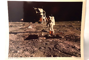 Man on the Moon Photograph of Astronaut Aldrin by Neil Armstrong NASA 69-HC-683